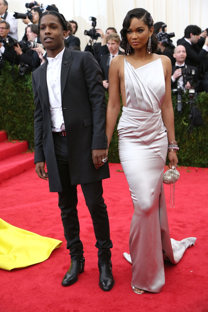 ASAP Rocky in Topman and Chanel Iman in Topshop
